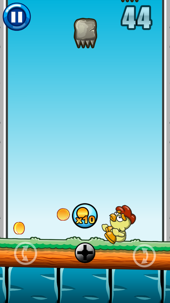Sky Fall Chicken Game Admob Leaderboard Achievements By