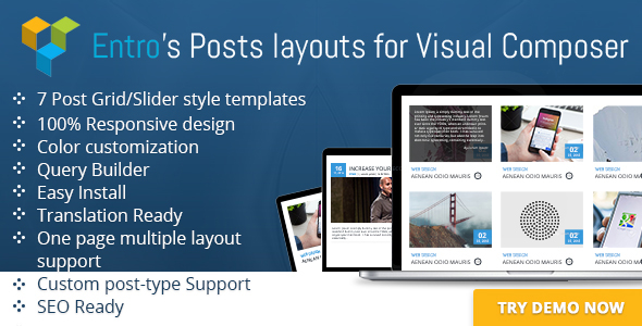 Entro's Posts layout for Visual Composer - CodeCanyon Item for Sale