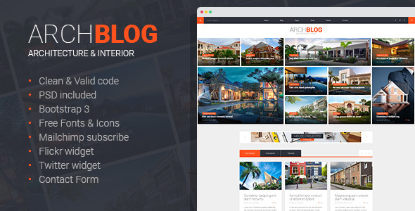 Archblog – Architecture Portfolio and Blog HTML template