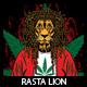 Rasta Lion T-shirt design - GraphicRiver Item for Sale