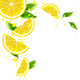 Background of Lemon and Juice Splashes - GraphicRiver Item for Sale