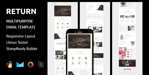 Return – Multipurpose Responsive Email Template + Stampready Builder