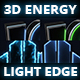 Energy Light Edge 3D logo - VideoHive Item for Sale