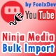Ninja Media Bulk Youtube Importer Plugin - CodeCanyon Item for Sale