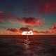 Crimson Sunset Over The Ocean - VideoHive Item for Sale