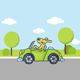 Dog Driving Car - GraphicRiver Item for Sale