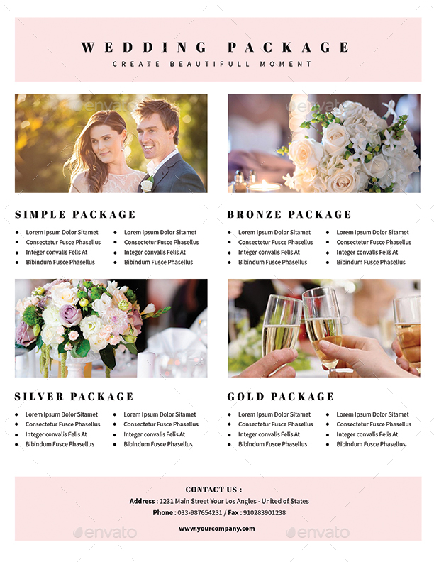 Simple Wedding Planner Flyer By Guuver | Graphicriver