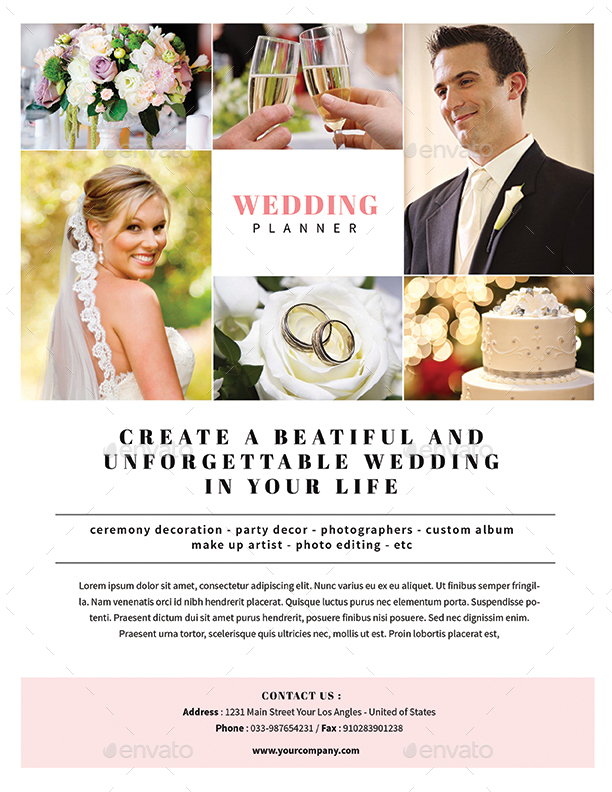 simple wedding planner flyer by guuver graphicriver
