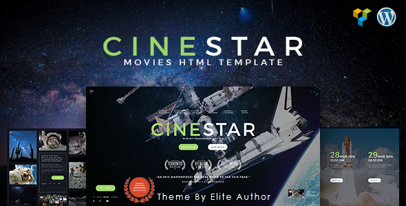 CINESTAR | Film Marketing Responsive WordPress Theme