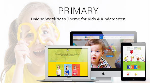 Primary –  Kids and School WordPress Theme | Education Material Design WP
