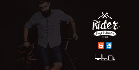 Rider -  Bike Shop & Service Site Template - Retail Site Templates