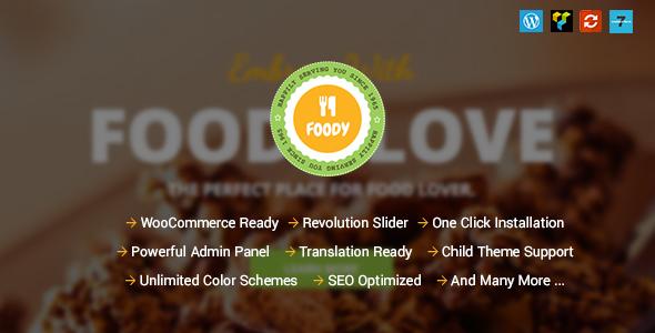 Foody - Responsive Food, Recipe Restaurant/Cafe WordPress Theme - Restaurants & Cafes Entertainment