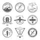 Barber Emblem or Label Set - GraphicRiver Item for Sale
