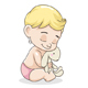Baby Boy with Toy - GraphicRiver Item for Sale