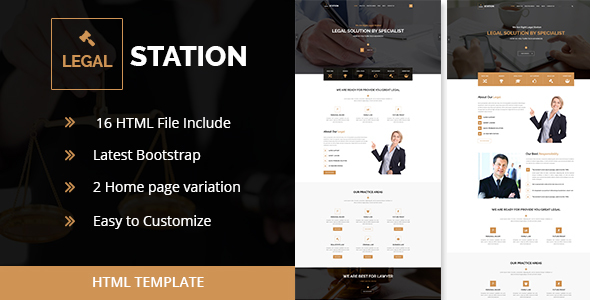 LEGAL STATION- Responsive HTML5 Legal Solution Template (New)