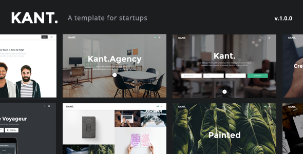 Kant – A Multipurpose Template For Startups And Freelancers