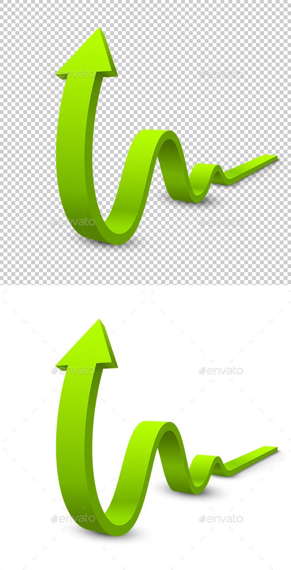 Arrow 3D - Decorative Symbols Decorative