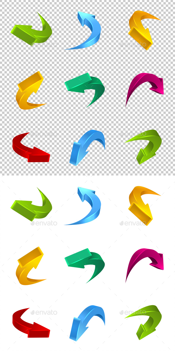 Arrows 3D - Decorative Symbols Decorative