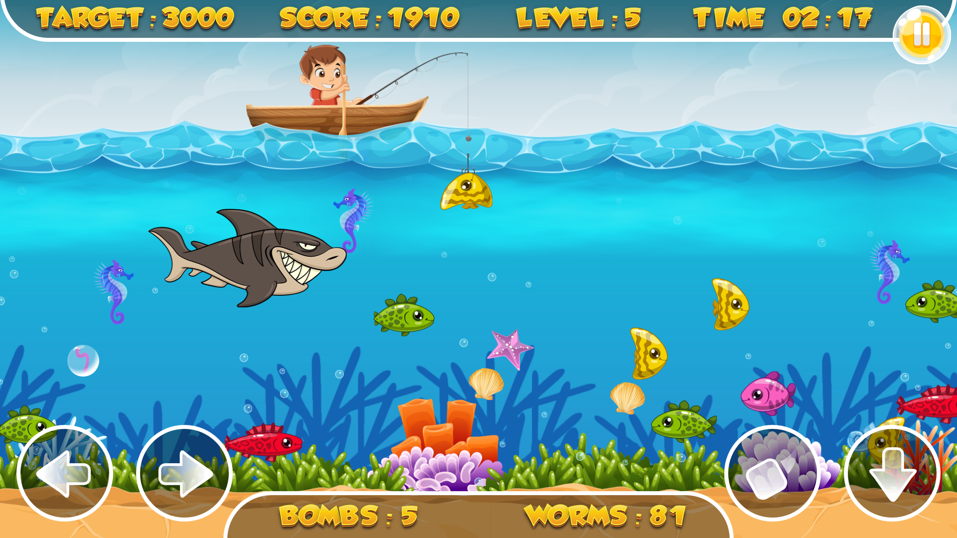 Fishing frenzy html5 game mobile version admob for Best fishing game android
