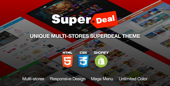 Superdeal - MultiPurpose Responsive eCommerce Shopify Theme - Shopping Shopify