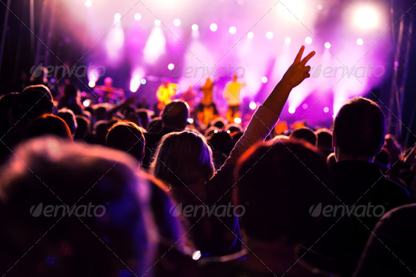 People on music concert - Stock Photo - Images