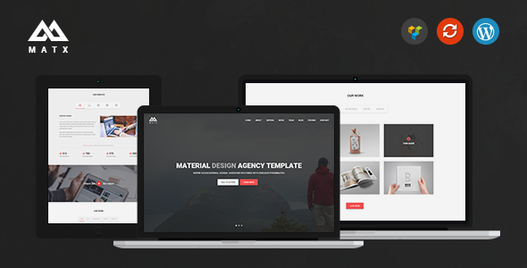 MATX - Material Design Agency Theme
