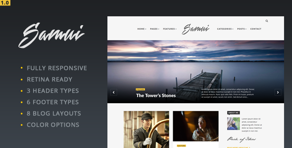 Samui – Responsive WordPress Blog Theme