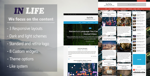 InLife - Simple & Flexible Blog/Magazine - Blog / Magazine WordPress