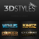 3D Photoshop Text Effects Bundle one - GraphicRiver Item for Sale