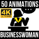 Business Woman Animations - VideoHive Item for Sale