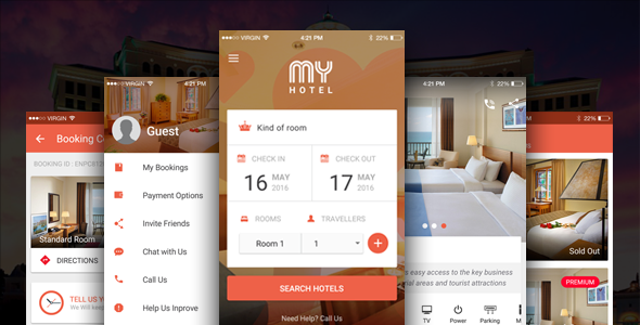 Ionic Theme, Ionic Template for Mobile Booking Hotel App - My Hotel - CodeCanyon Item for Sale