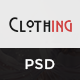 Clothing - eCommerce PSD Template - ThemeForest Item for Sale