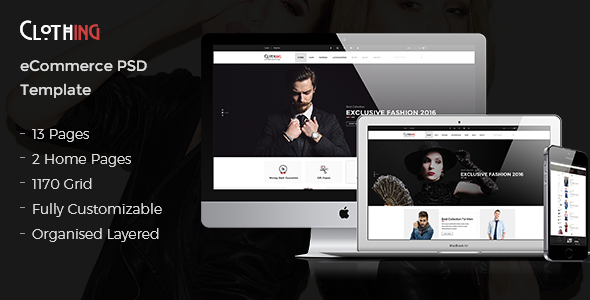 Clothing – eCommerce PSD Template