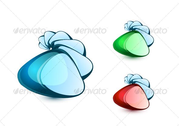 Abstract glass logos - Abstract Conceptual