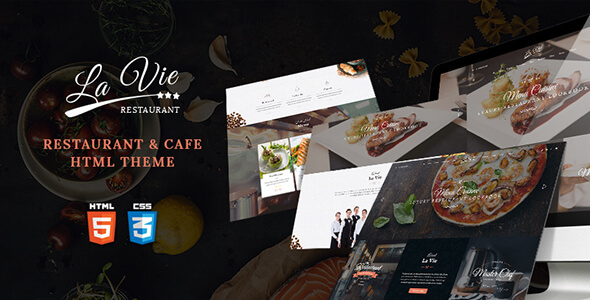 Bootstrap 3 HTML Template for Restaurants & Coffee Shop - Lavie