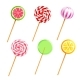 Sweets Lollipops Candies Realistic Icons Set