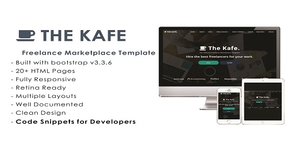 The Kafe - Ultimate Freelance Marketplace Template - Business Corporate