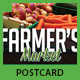 Farmers Market Postcard Template - GraphicRiver Item for Sale