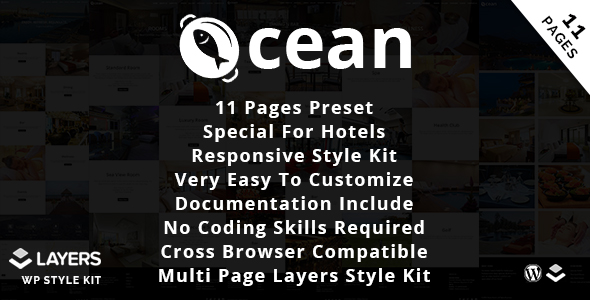 Ocean Hotel - Layes WP Style Kit - CodeCanyon Item for Sale