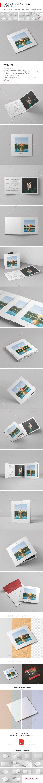 Square Greeting Card / Bi-Fold Brochure Mock-Up - Brochures Print