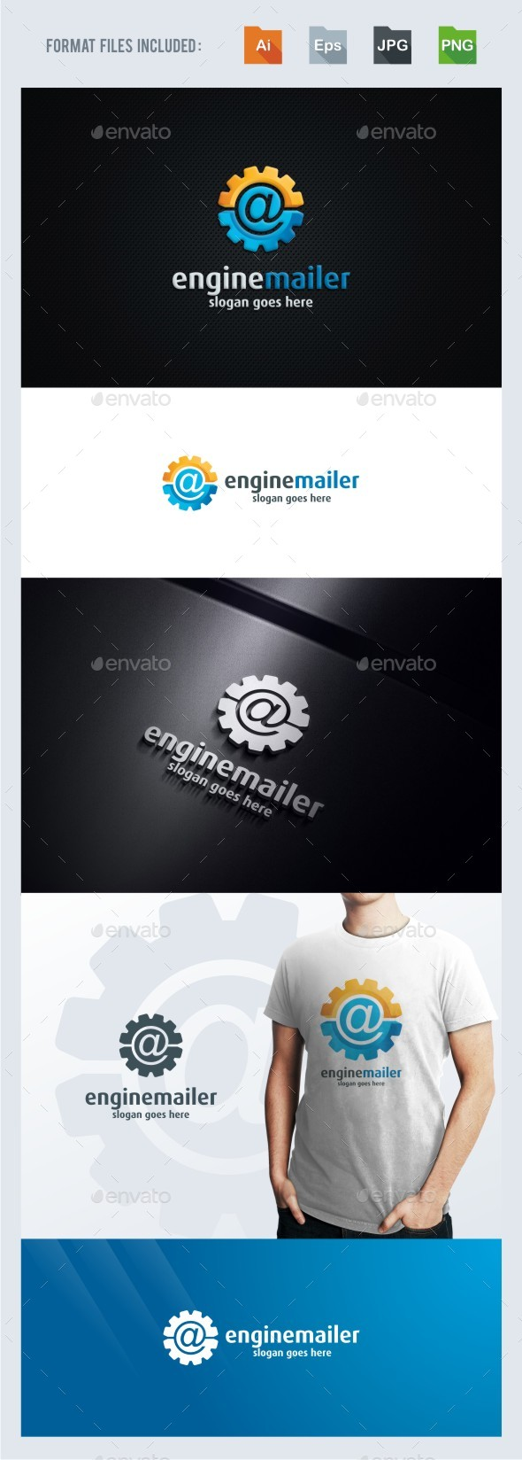 Engine Mailer Logo Template by BeLoveArt | GraphicRiver