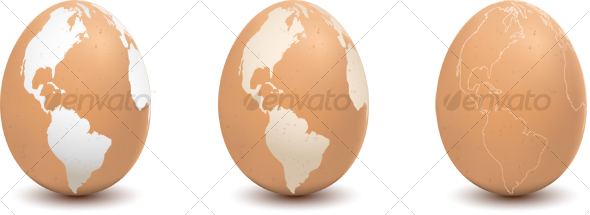 Map on Egg 1 - Objects Illustrations