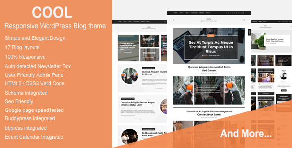 Cool - Responsive WordPress Blog theme - Blog / Magazine WordPress
