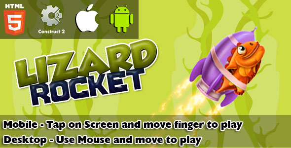 Lizard Rocket HTML5 Game (CAPX) - CodeCanyon Item for Sale
