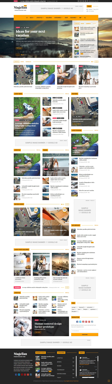 Magellan Video News Reviews Magazine Html Template By Planetshine