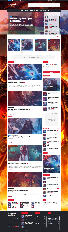 Magellan video news reviews magazine html template
