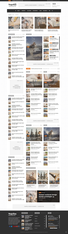 Magellan - Video News & Reviews Magazine HTML Template by Planetshine