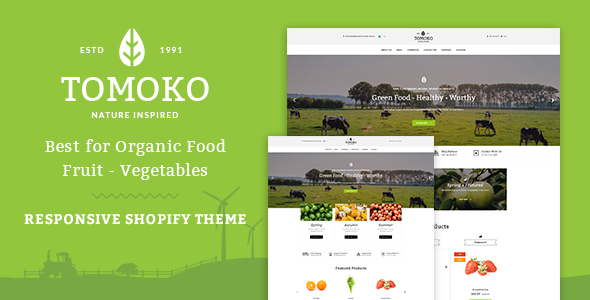 Tomoko – Organic Food/Fruit/Vegetables Responsive Shopify Theme