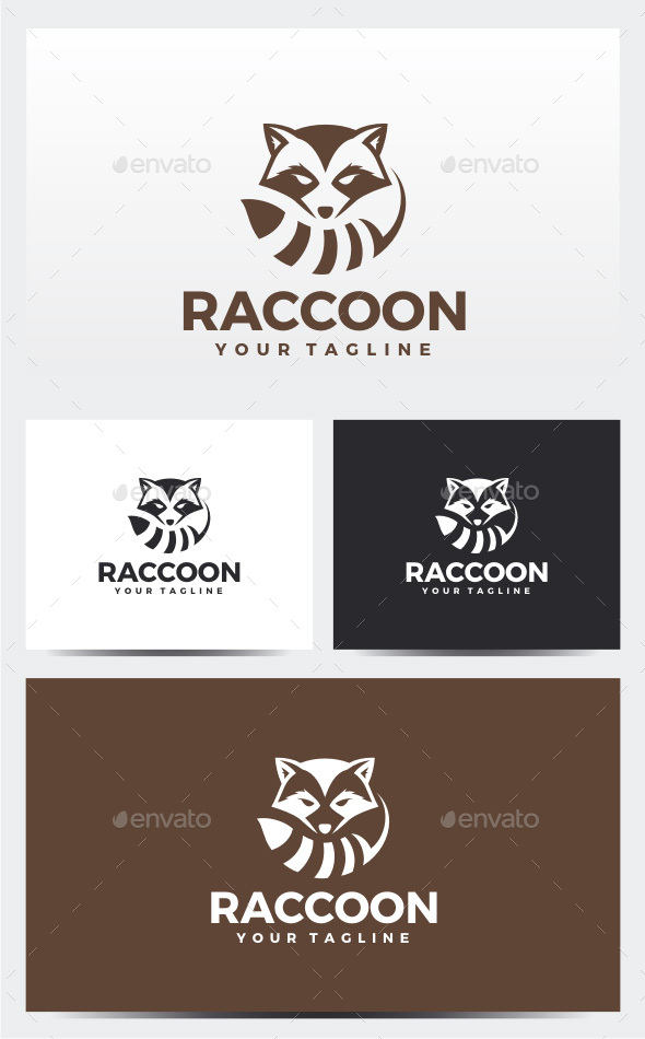 Raccoon Logo - Animals Logo Templates