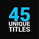 45 titles package - VideoHive Item for Sale